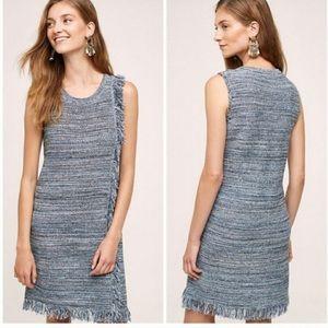 Anthropologie Holding Horses Blue Fringe Dress